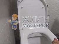 Установка унитаза в ванной