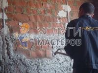 Механическая штукатурка стен гипсовым раствором