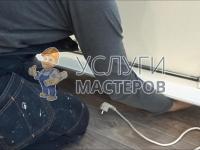 Монтаж подвесного конвектора отопления