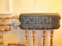 Установка медных труб для отопления