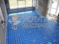 Монтаж теплого водяного пола в частном доме