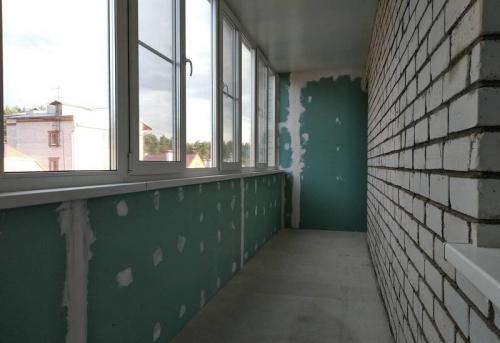 Отделка балкона и лоджии гипсокартоном без утепления в Москве