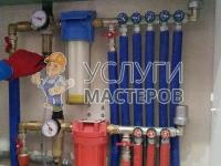 Установка распределительного коллектора отопления