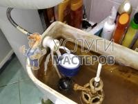 Ремонт впускного клапана бачка на верхней подводке