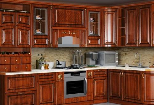 Сборка кухонного гарнитура из древесного массива в Москве