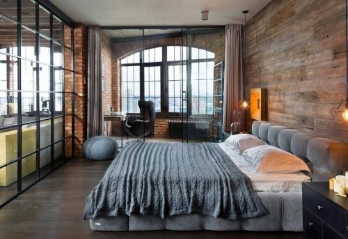 Сборка спальни в стиле лофт в Москве