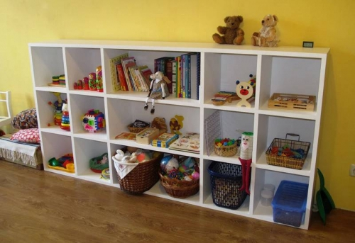 Сборка стеллажа для игрушек в Москве