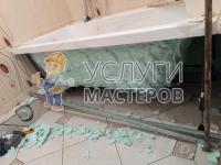 Установка экрана под ванну из МДФ
