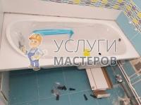 Сборка экрана под ванну металла