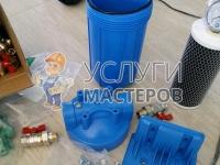 Установку проточного фильтра для воды
