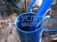 Установка насоса для воды в колодец