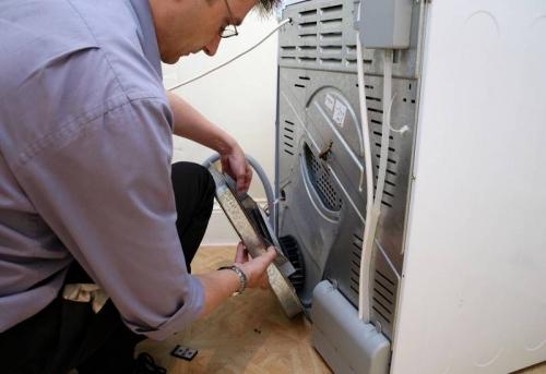 Установка сушильной машины с доработкой коммуникаций в Москве