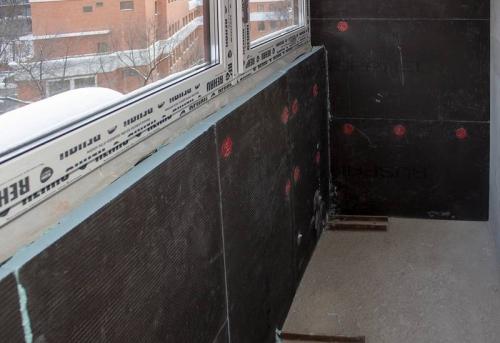 Утепление балкона и лоджии без отделки в Москве