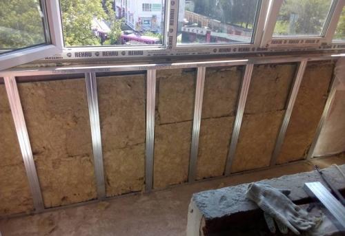 Утепление балкона и лоджии минеральной ватой в Москве