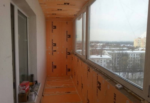 Утепление балкона и лоджии пеноплексом в Москве